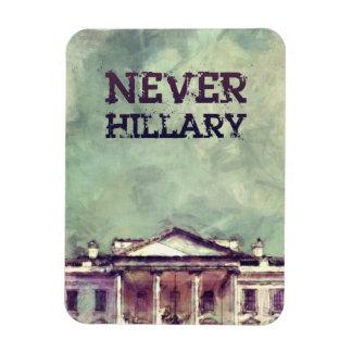 Nunca Hillary Clinton Imán Rectangular