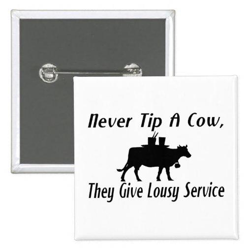 Nunca incline una vaca pins