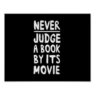Nunca juzgue un libro por su película póster