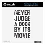 Nunca juzgue un libro por su película iPod touch 4G calcomanías