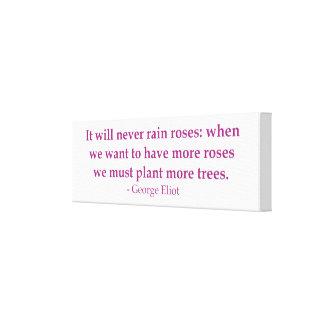 Nunca lloverá la lona de los rosas lona envuelta para galerias