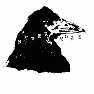Nunca más cuervo de Edgar Allan Poe Adorno Fotoescultura
