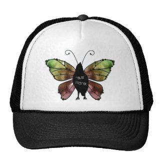 Nunca más cuervo de la mariposa gorra