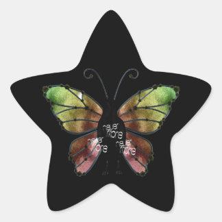 Nunca más cuervo de la mariposa x3 calcomanias forma de estrella