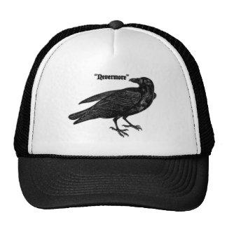 Nunca más cuervo gorras
