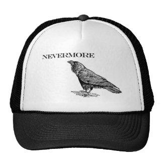 Nunca más cuervo gorros