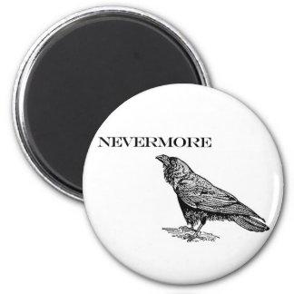 Nunca más cuervo imán de frigorífico