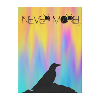 Nunca más cuervo lona estirada galerias