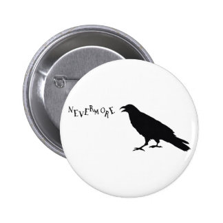 Nunca más cuervo pin redondo 5 cm