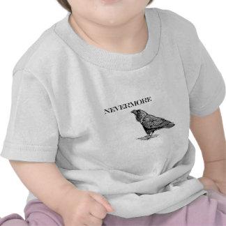 Nunca más cuervo camisetas