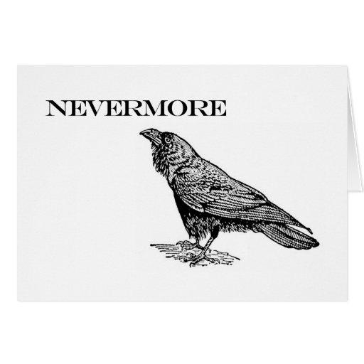 Nunca más cuervo tarjeta de felicitación