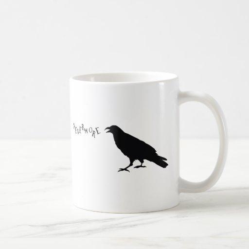 Nunca más cuervo taza