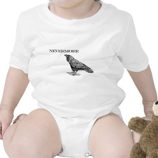 Nunca más cuervo traje de bebé