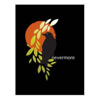 Nunca más - cuervo y luna por el Poe Tarjeta Postal