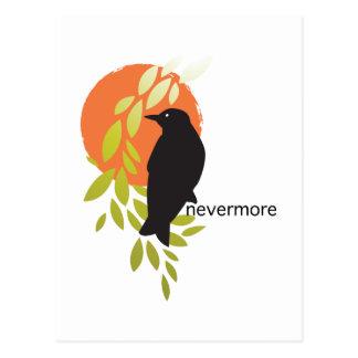 Nunca más - cuervo y luna por el Poe Postal
