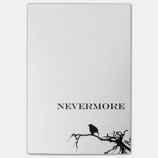 Nunca más diseño de Edgar Allan Poe del cuervo Post-it Notas