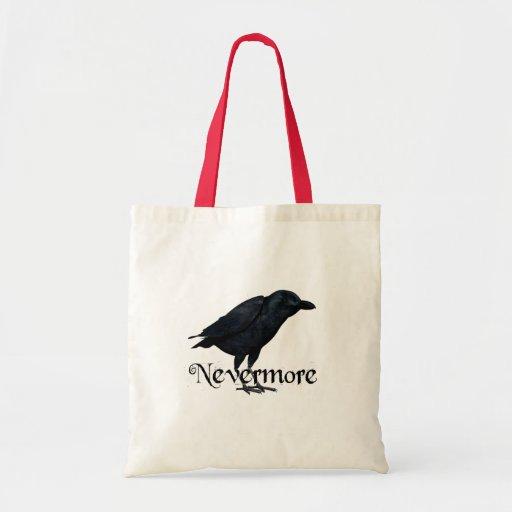 Nunca más - el cuervo - E.A. Poe Bolsa Lienzo