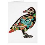 Nunca más tarjeta de felicitación del cuervo del