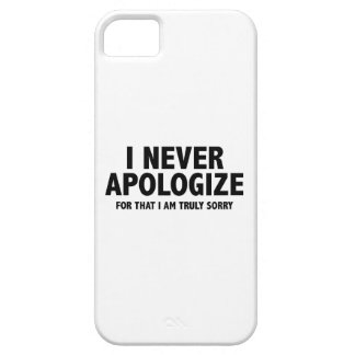 Nunca me disculpo. Para eso lo siento verdad iPhone 5 Case-Mate Protectores