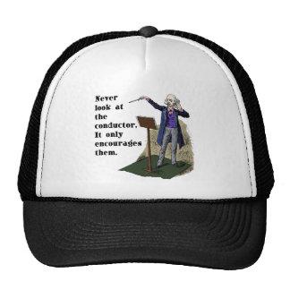 Nunca mire el conductor gorras de camionero