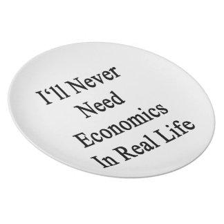 Nunca necesitaré la economía en vida real platos para fiestas