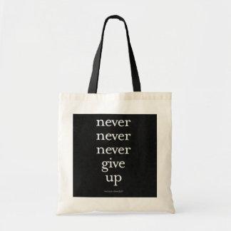 Nunca, nunca dé para arriba bolsa de mano