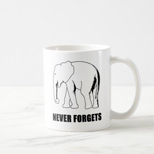 Nunca olvida tazas de café