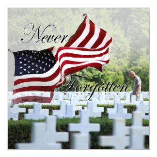 """Nunca olvidado - Memorial Day Invitación 5.25"""" X 5.25"""""""
