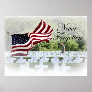 Nunca olvidado - Memorial Day Póster