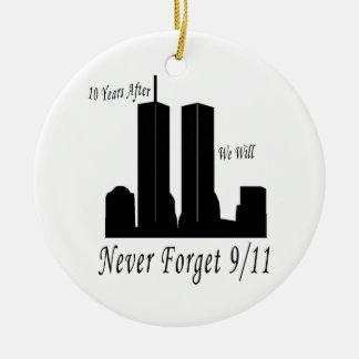 Nunca olvidaremos 9 11 ornamento de reyes magos