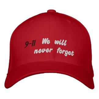 Nunca olvidaremos 9-11 gorras bordadas
