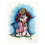 Nunca olvidaremos a 9/11 Dalmatian del bombero Postal