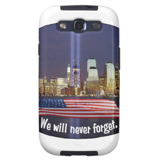 Nunca olvidaremos el tributo 9-11 galaxy SIII protector