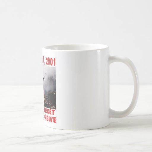 Nunca olvide 11 de septiembre de 2001 nunca perdon tazas de café