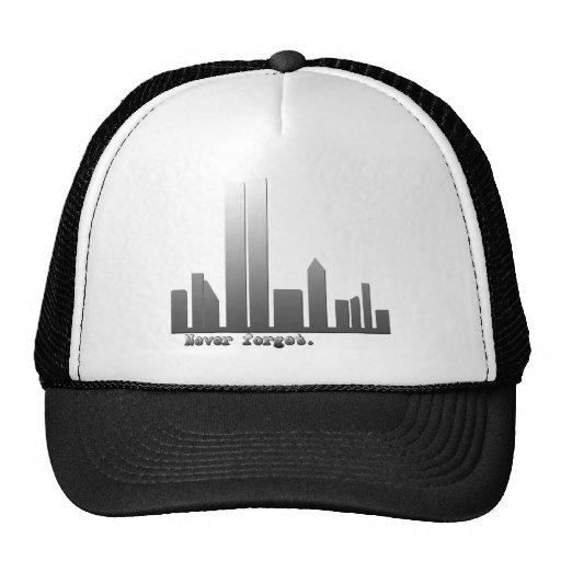 Nunca olvide 11 de septiembre los productos gorras