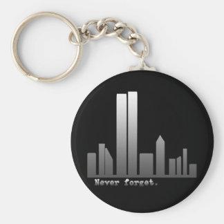 Nunca olvide 11 de septiembre los productos llavero personalizado
