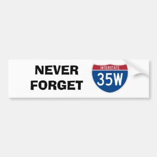 Nunca olvide 35W Pegatina Para Auto