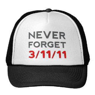 Nunca olvide 3-11-2011 gorros bordados
