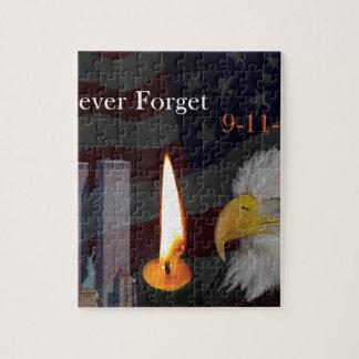 Nunca olvide 9-11-01 puzzle