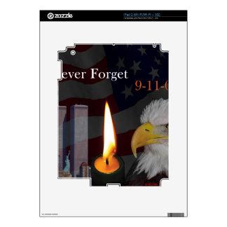 Nunca olvide 9-11-01 skins para iPad 2