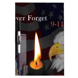 Nunca olvide 9-11-01 tableros blancos