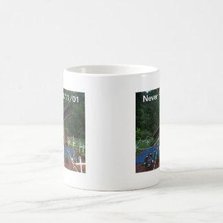 Nunca olvide 9 11 01 taza de café