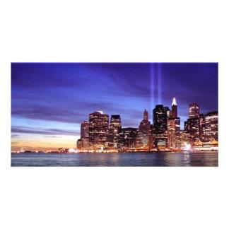 Nunca olvide (9-11-2001) tarjetas personales con fotos