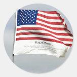 Nunca olvide 9/11 bandera de pegatina del honor