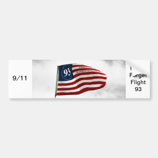 Nunca olvide 9/11- el vuelo 93 pegatina para auto