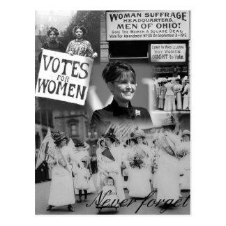 Nunca olvide a las mujeres - postal de Palin