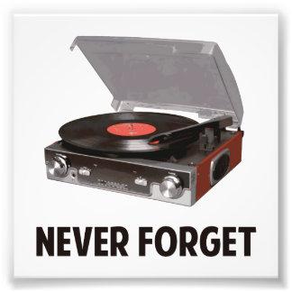 Nunca olvide a los tocadiscos del vinilo fotografía