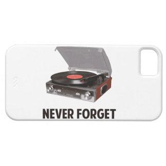 Nunca olvide a los tocadiscos del vinilo iPhone 5 cárcasas