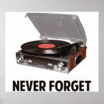 Nunca olvide a los tocadiscos del vinilo impresiones