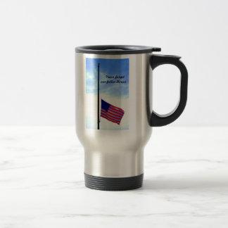 Nunca olvide a nuestros héroes caidos tazas de café